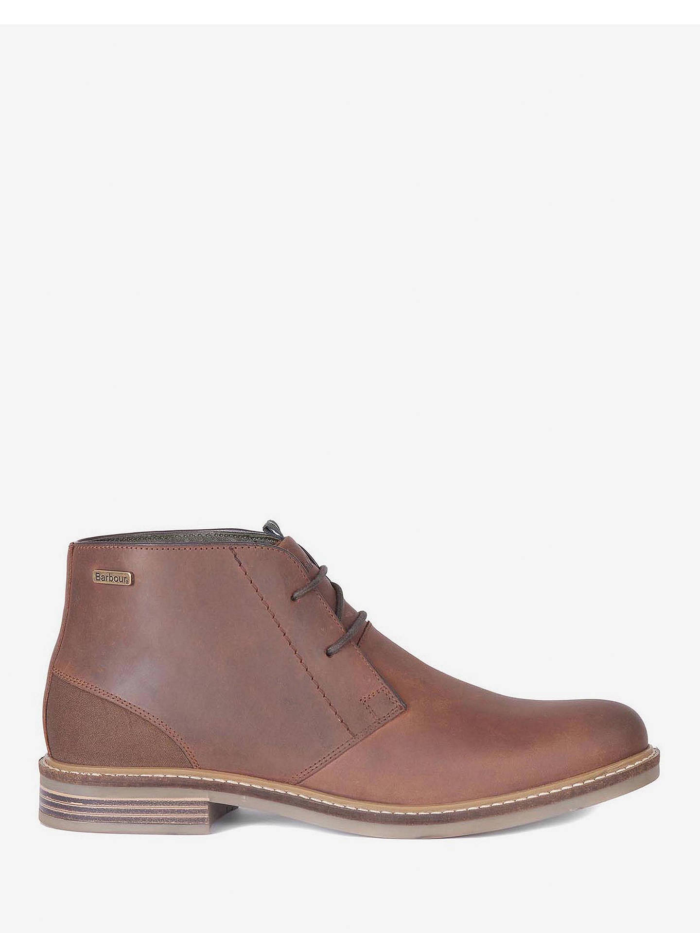 41b2b26758e Barbour Redhead Leather Chukka Boots, Dark Tan at John Lewis & Partners