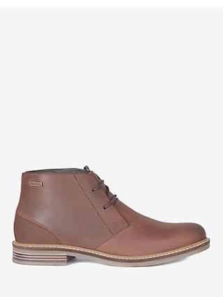 Barbour Redhead Leather Chukka Boots, Dark Tan