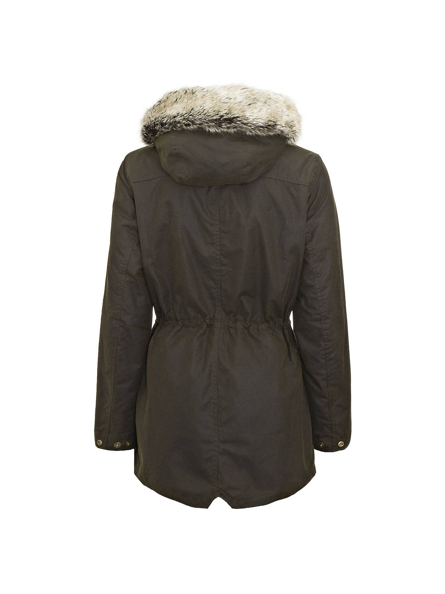 Buy Barbour Kelsall Waxed Hooded Jacket, Olive, 8 Online at johnlewis.com