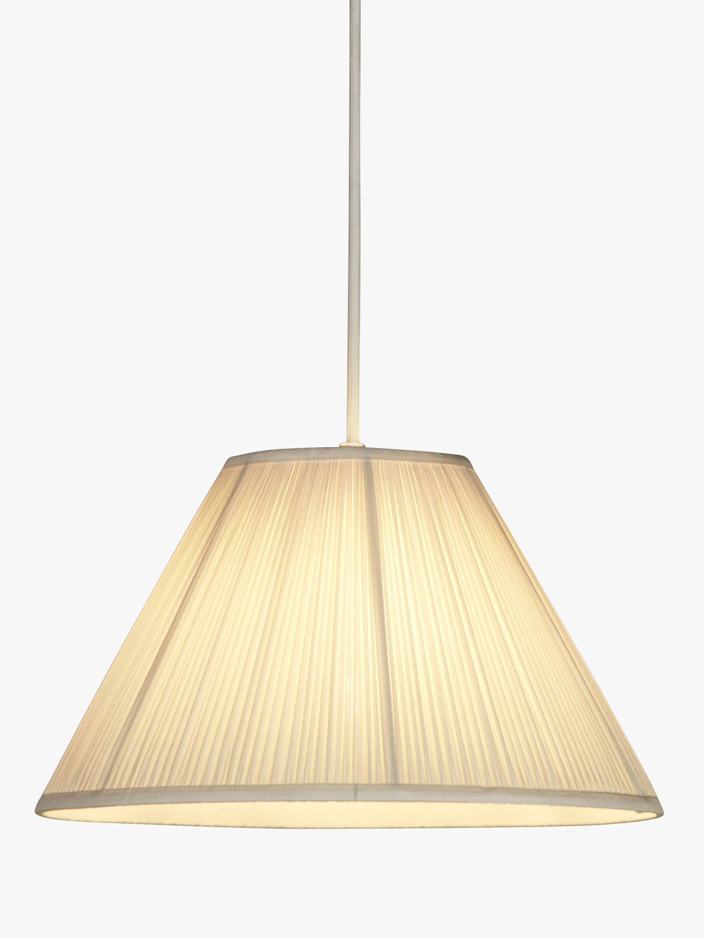 Buy John Lewis & Partners Isadora Cone Silk Lampshade, Ivory, Dia.25cm Online at johnlewis.com