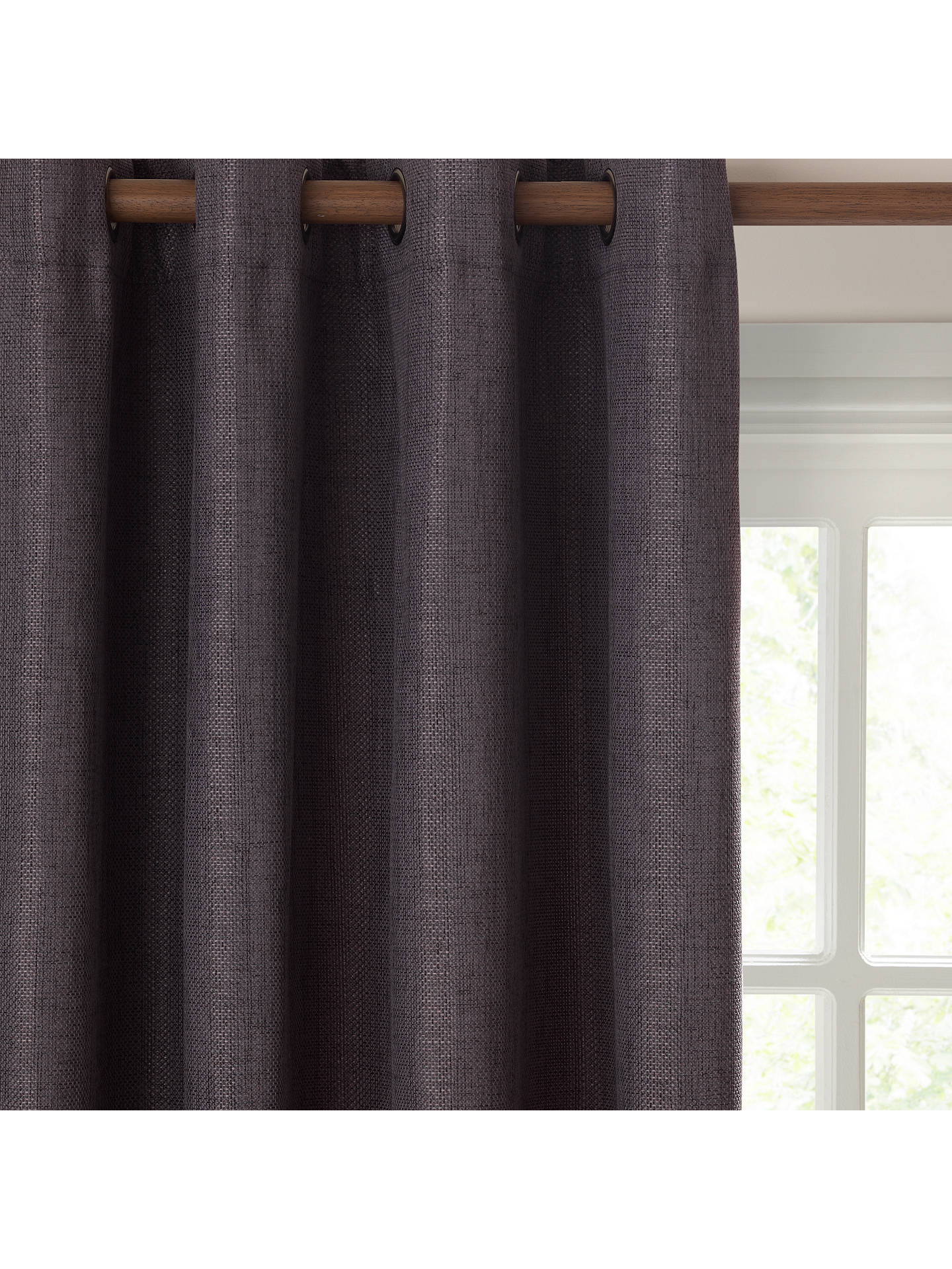 Buy John Lewis & Partners Pair Textured Weave Lined Eyelet Curtains, Grey, W167 x  Drop 182cm Online at johnlewis.com