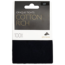 Buy John Lewis 100 Denier Opaque Cotton Tights Online at johnlewis.com
