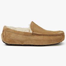 Buy UGG Ascot Moccasin Suede Slippers, Chestnut Online at johnlewis.com