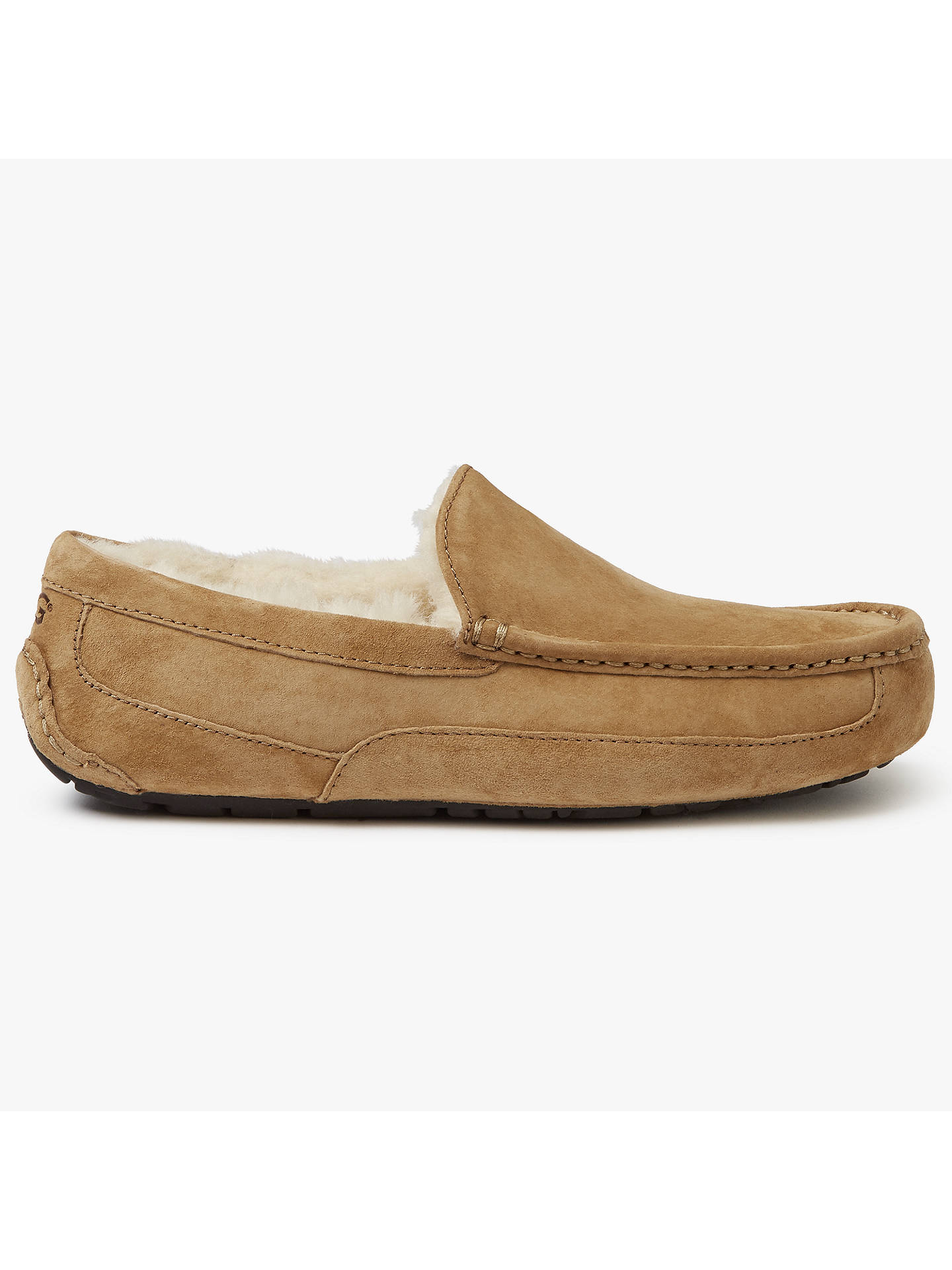 f8ca4678a63 UGG Ascot Moccasin Suede Slippers, Chestnut at John Lewis & Partners