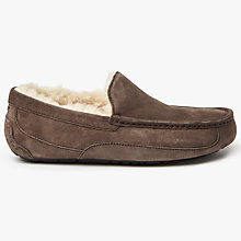 Buy UGG Ascot Moccasin Suede Slippers, Espresso Online at johnlewis.com