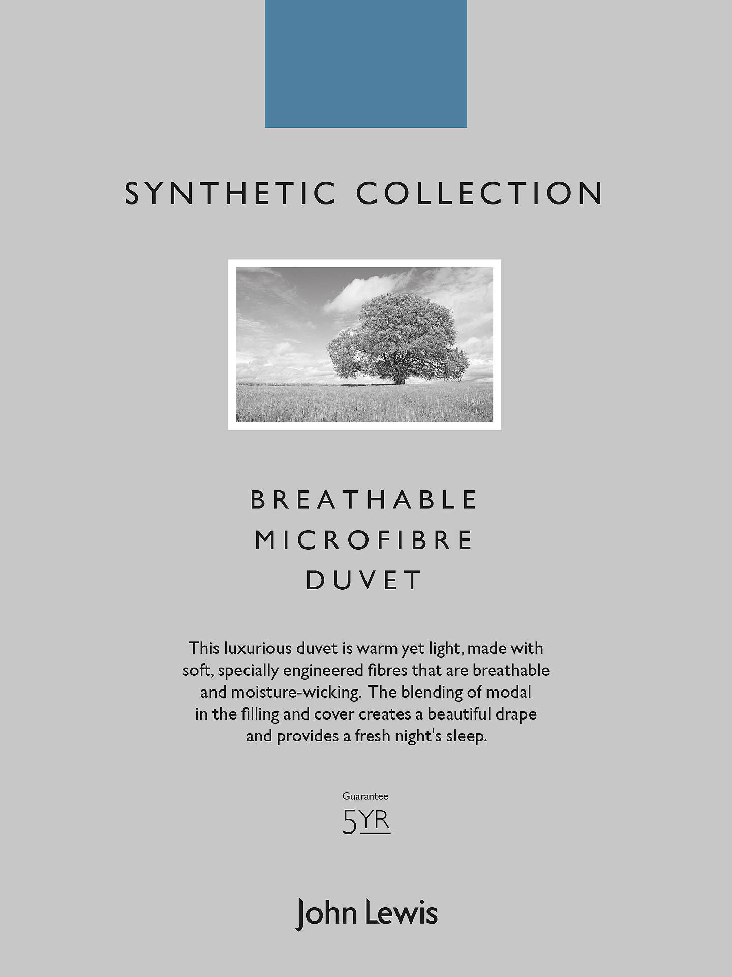 BuyJohn Lewis & Partners Synthetic Collection Breathable Microfibre Duvet, 2.5 Tog, Super King Online at johnlewis.com