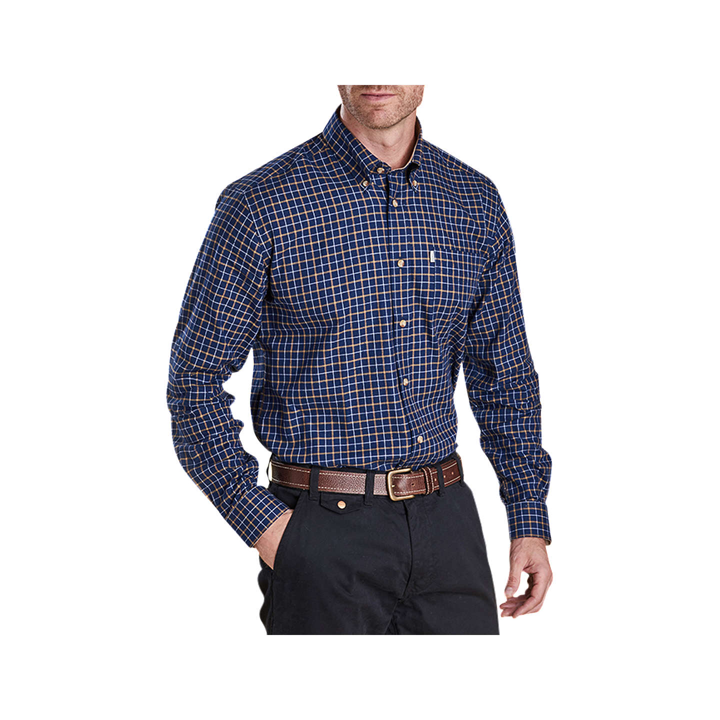 Barbour Bank Check Shirt, Navy by Barbour