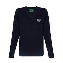 Buy Woodford County High School Girls' Jumper, Navy Blue Online at johnlewis.com