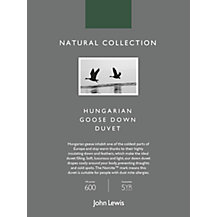 John Lewis Natural Collection Hungarian Goose Down Bedding