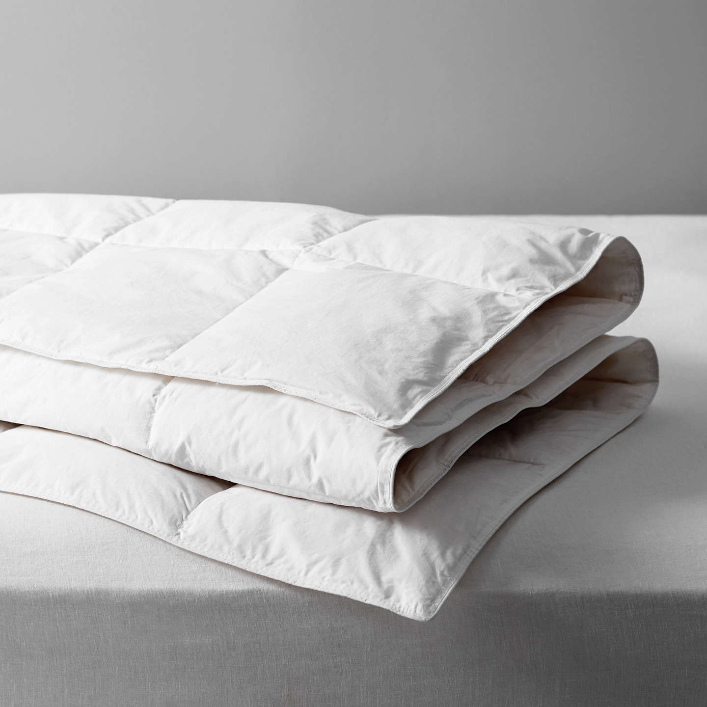 John Lewis Natural Duck Feather And Down Duvet 4 5 Tog Single Online At Johnlewis