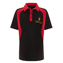 Buy St Joseph's College Unisex Polo Shirt, Black/Red Online at johnlewis.com