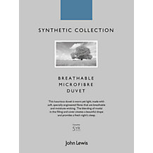 John Lewis Synthetic Collection Breathable Microfibre Bedding
