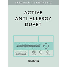 John Lewis Specialist Synthetic Active Anti Allergy Bedding