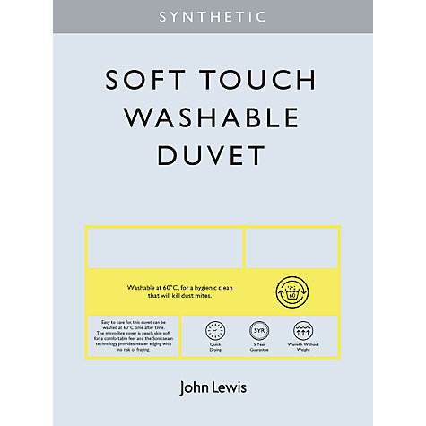 Buy John Lewis Synthetic Soft Touch Washable Duvet, 4.5 Tog Online at johnlewis.com