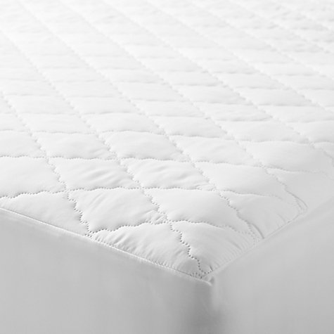 John Lewis Synthetic Soft Touch Washable Quilted Mattress Protector Online At Johnlewis