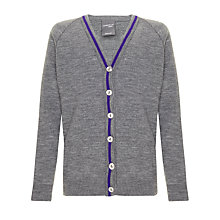 Buy School Girls' Cardigan, Grey Online at johnlewis.com