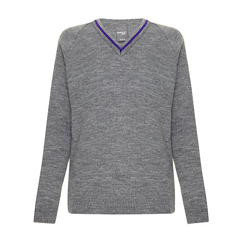 Buy School Boys' Jumper, Grey Online at johnlewis.com