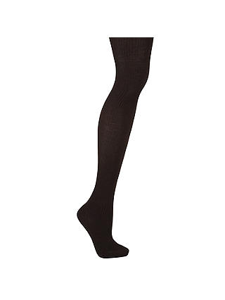 Buy John Lewis Wool Ribbed Opaque Tights, Cafe, S Online at johnlewis.com