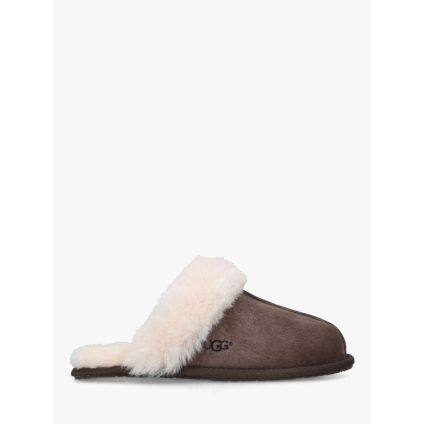 BuyUGG Scuffette II Sheepskin Slippers, Dark Brown, 8 Online at johnlewis.com