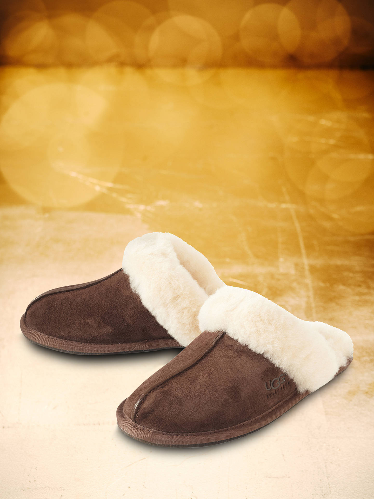 BuyUGG Scuffette II Sheepskin Slippers, Dark Brown, 3 Online at johnlewis.com