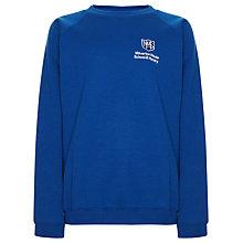 Buy Milverton House School Unisex Sweatshirt, Royal Blue Online at johnlewis.com