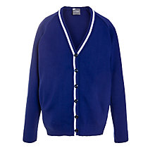 Buy Milverton House School Girls' Trim Cardigan, Royal Blue Online at johnlewis.com