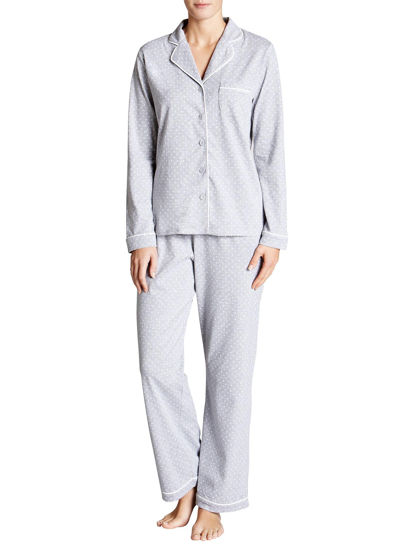 John Lewis   Partners Classic Spot Jersey Pyjama Set at John Lewis ... 3927a94f3