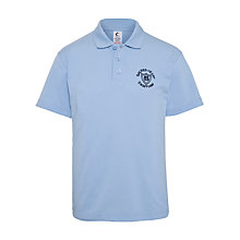Buy Sacred Heart School Girls' Polo Shirt, Sky Blue Online at johnlewis.com