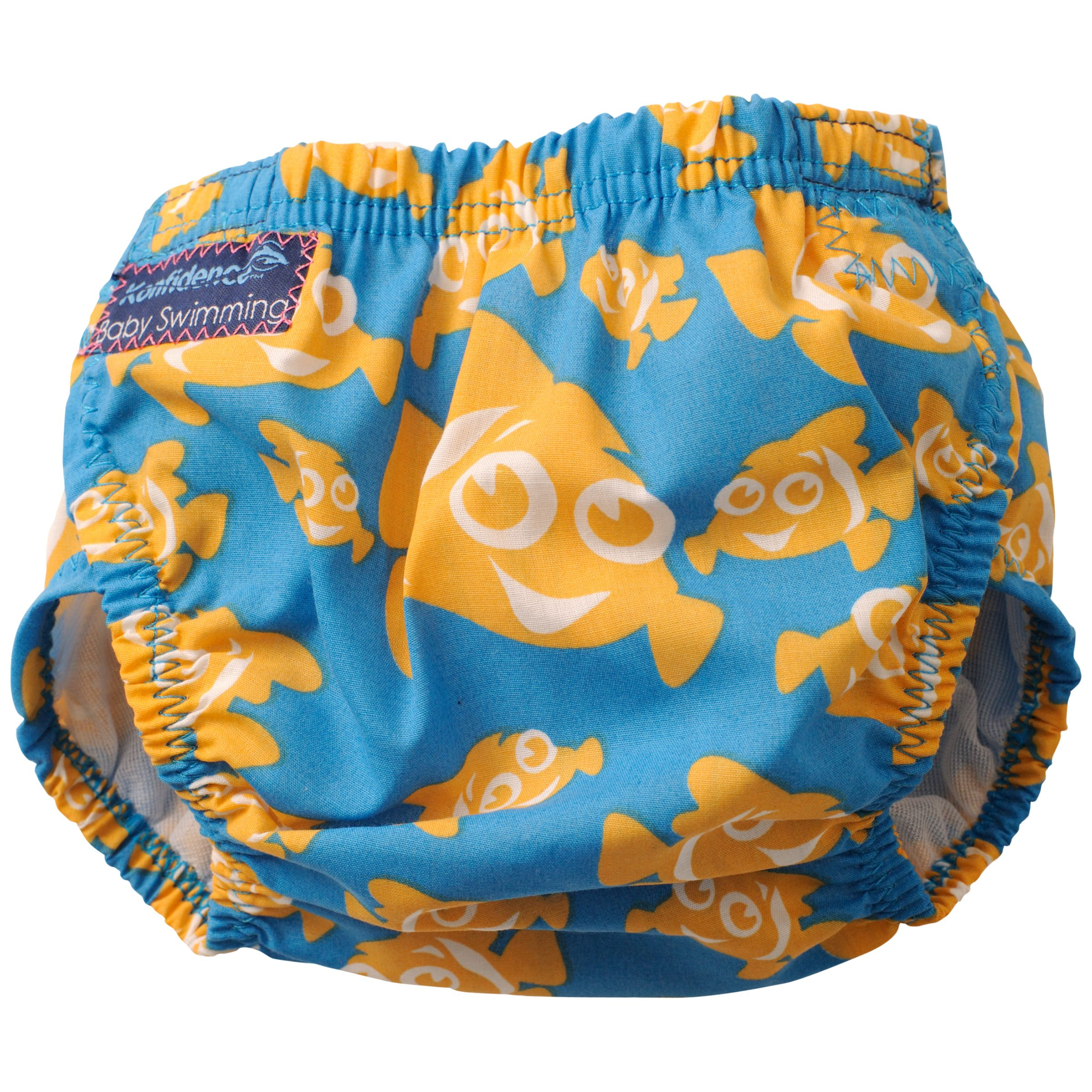 Konfidence Konfidence Baby Clown Fish Aqua Swim Nappy, Blue