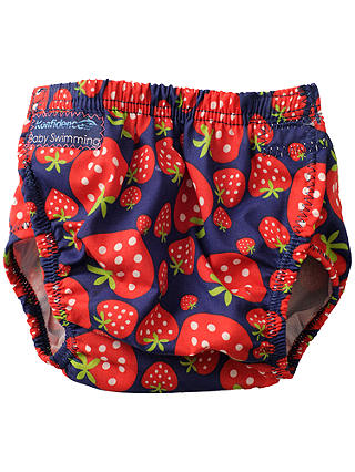 Buy Konfidence Strawberry Aqua Swim Nappy, Red, One Size Online at johnlewis.com