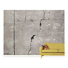 Buy Surface View Cracked Concrete Wall Mural, 360 x 265cm Online at johnlewis.com