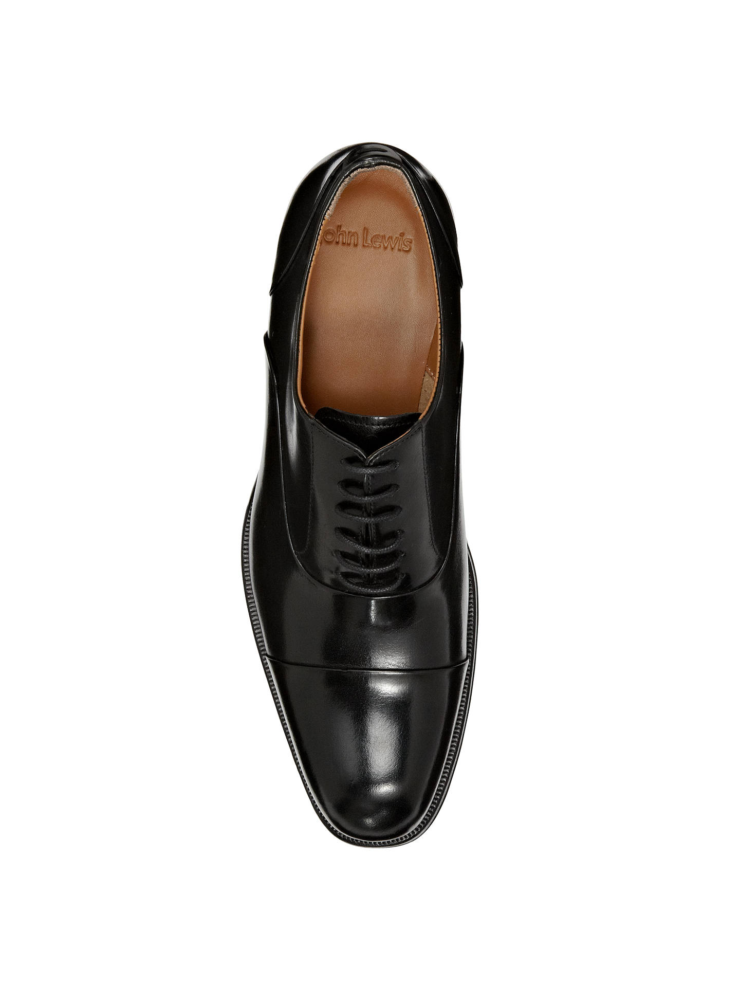098ab2f6259b4 ... Buy John Lewis Goodwin Leather Oxford Shoes, Black, 7 Online at  johnlewis.com ...