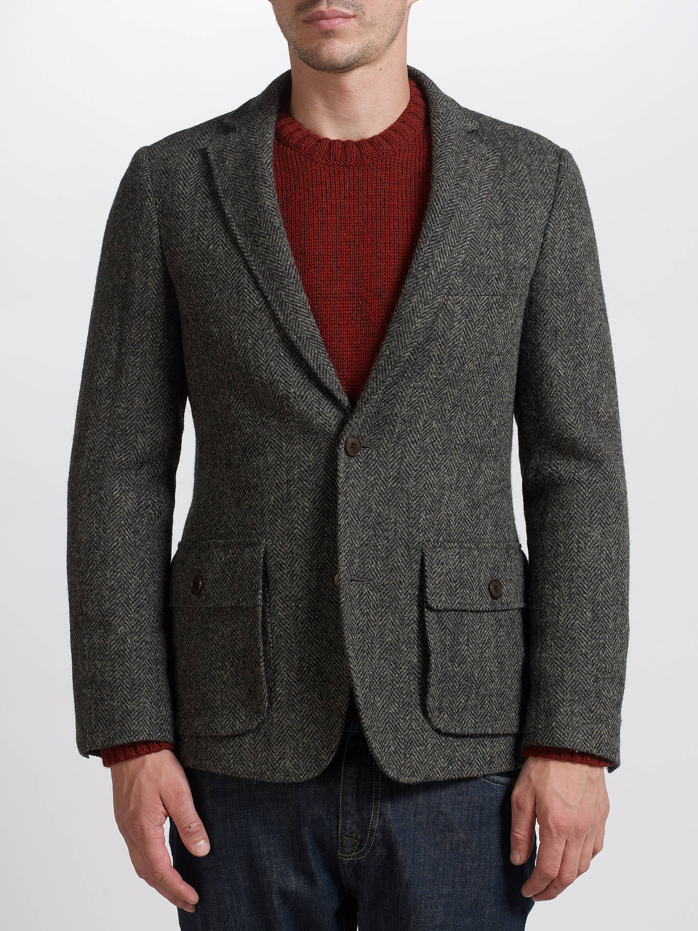 JOHN LEWIS & Co. Harris Tweed Vintage Herringbone Blazer