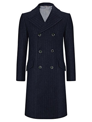 Buy JOHN LEWIS & Co. Harris Tweed Sherlock Chalk Stripe Coat, Navy, XS Online at johnlewis.com