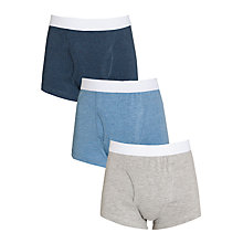 Buy John Lewis Boy Trunks, Pack of 3, Multi Online at johnlewis.com