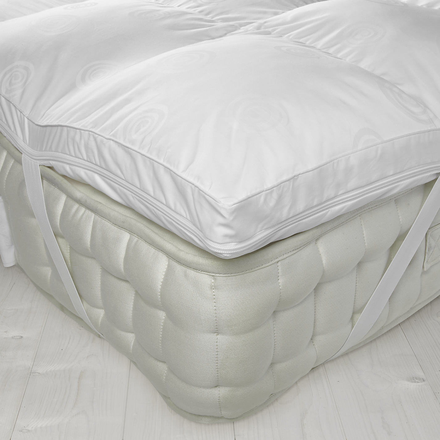 John Lewis Luxury Memory Foam With Microfibre Mattress Topper Online At Johnlewis