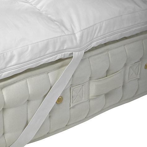 buy john lewis luxury memory foam with microfibre mattress topper online at