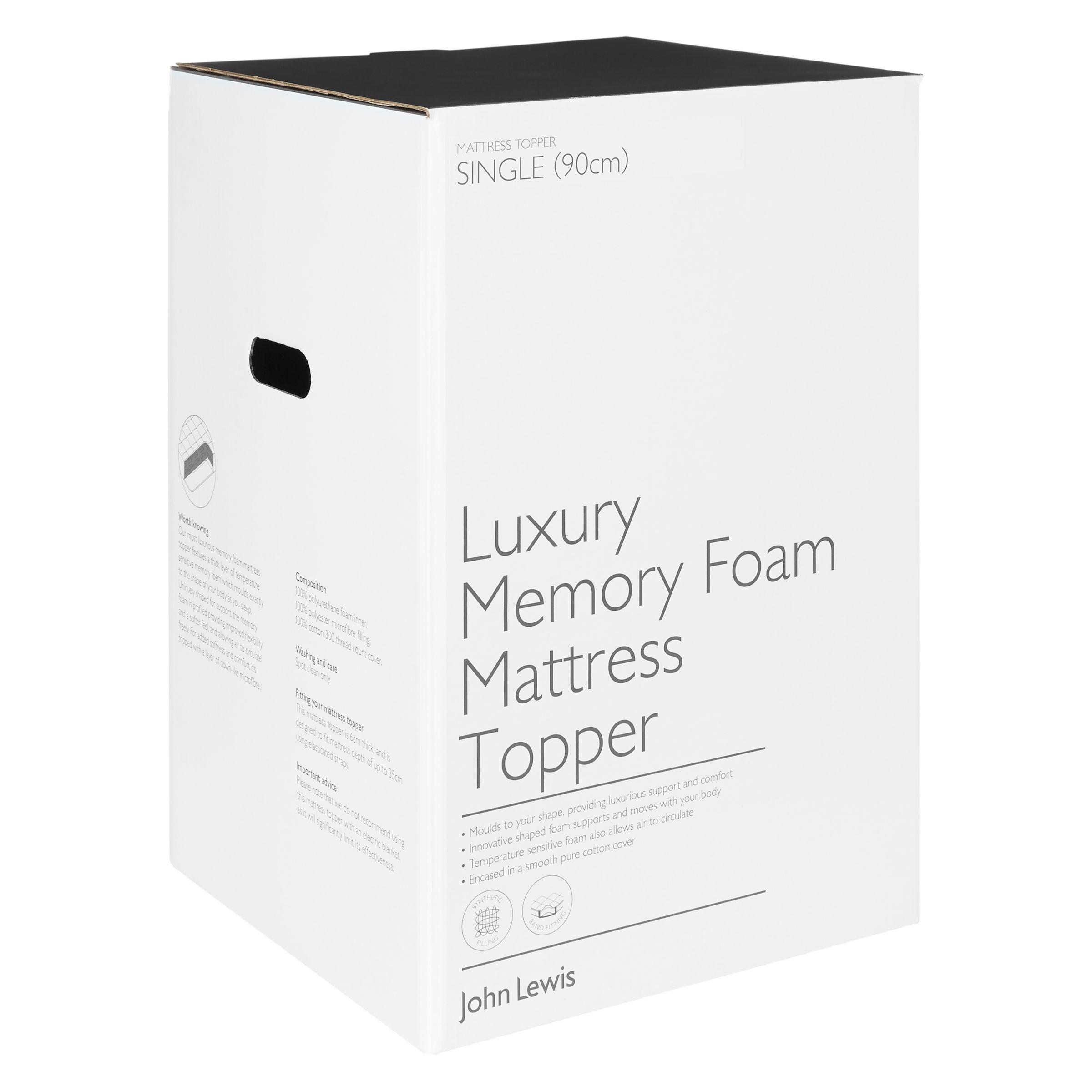 luxury memory foam mattress topper with microfibre john lewis Pillow Storage Bags buyjohn lewis partners luxury memory foam with microfibre mattress topper bed topper double online
