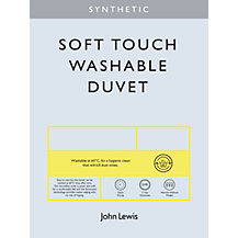 John Lewis Synthetic Soft Touch Washable Bedding