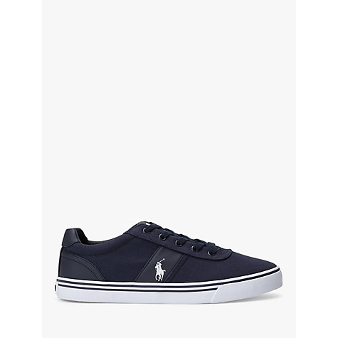 Buy Polo Ralph Lauren Hanford Canvas Trainers, Newport Navy Online at johnlewis.com