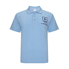 Buy St John's CE JMI School Unisex Polo Shirt, Sky Blue Online at johnlewis.com