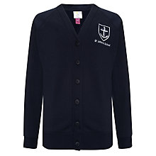 Buy St John's CE JMI School Girls' Sweater Cardigan, Navy Blue Online at johnlewis.com
