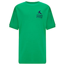 Buy Colfe's School Pegasus House Unisex PE T-Shirt, Green Online at johnlewis.com