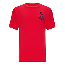 Buy Colfe's School Aquila House Unisex PE T-Shirt, Red Online at johnlewis.com