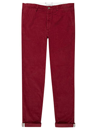 Buy Ben Sherman Cotton Corduroy Trousers, Red, 30R Online at johnlewis.com