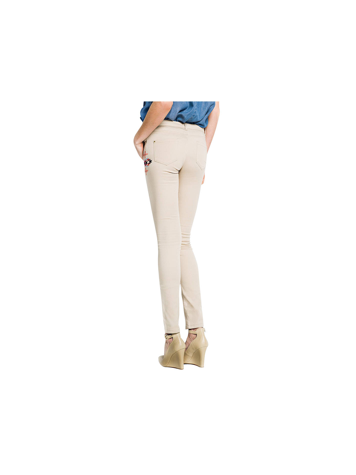 Buy Mango Ethnic Embellished Trousers, Medium Beige, 6 Online at johnlewis.com