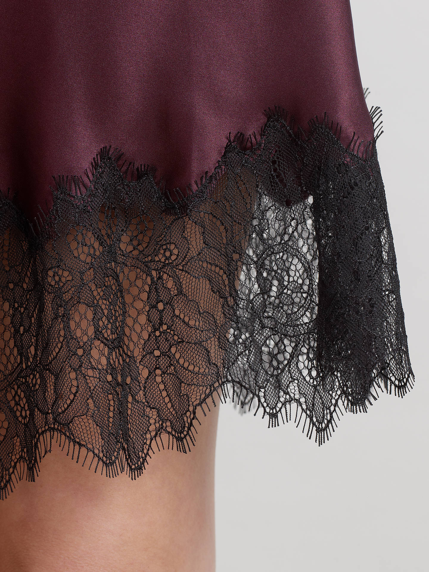 Buy Somerset by Alice Temperley Vintage Lace Chemise, Claret, S Online at johnlewis.com