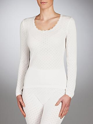 John Lewis & Partners Long Sleeve Thermal Top, Ivory