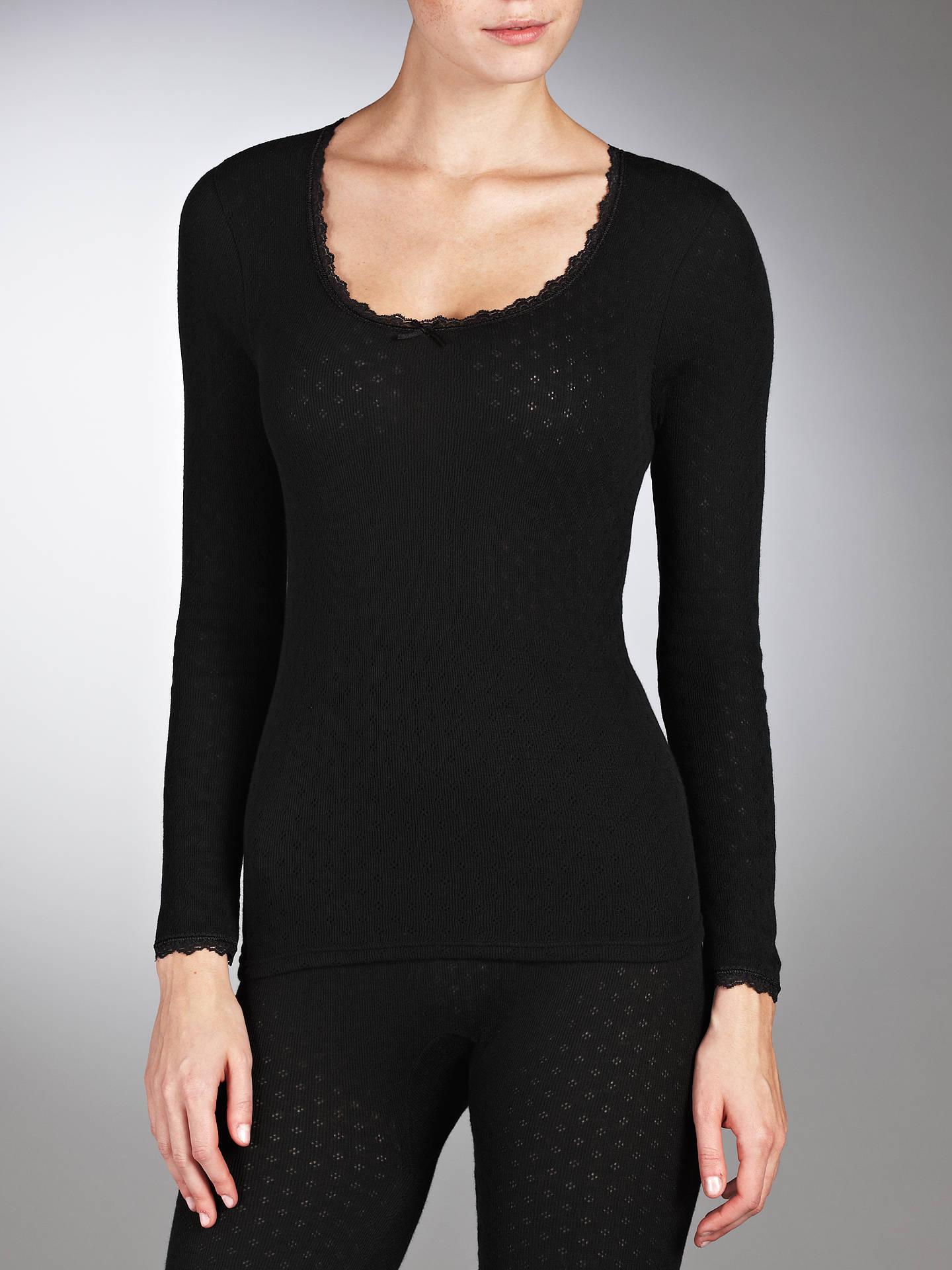 f316ad29c40460 Buy John Lewis Long Sleeve Thermal Top, Black, 8-10 Online at johnlewis ...