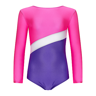 Tappers and Pointers Shine Panel Gym Leotard, Pink/Purple